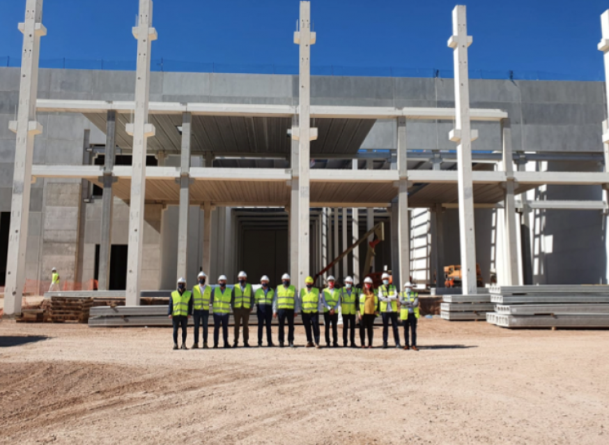 AZA Logistics avanza en la construcción del nuevo centro logístico en Sagunto